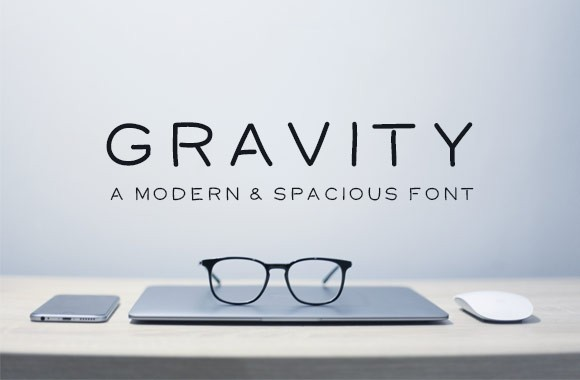 Gravity - Modern and Spacious Font