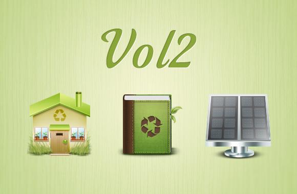 Green environmental icons vol2