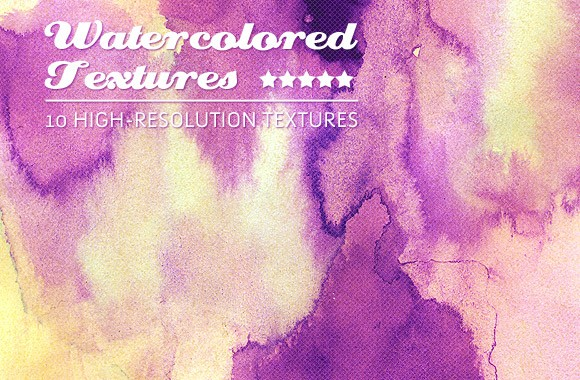 10 Grunge Watercolored Textures