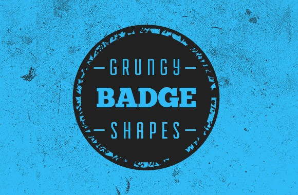Grungy Vector Badge Shapes