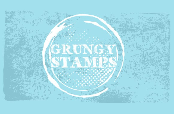Grungy Stamped Shape Vectors