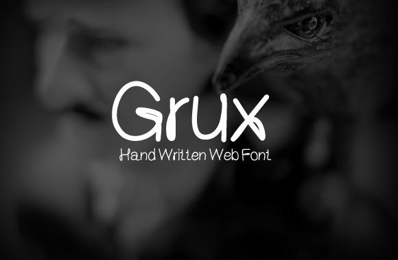Grux - Hand Written Web Font