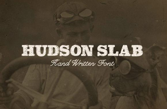 Hudson Slab - Hand Drawn Font Face