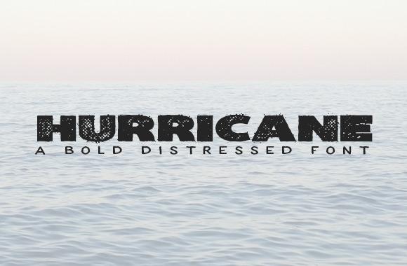 Hurricane - A Bold Distressed Font