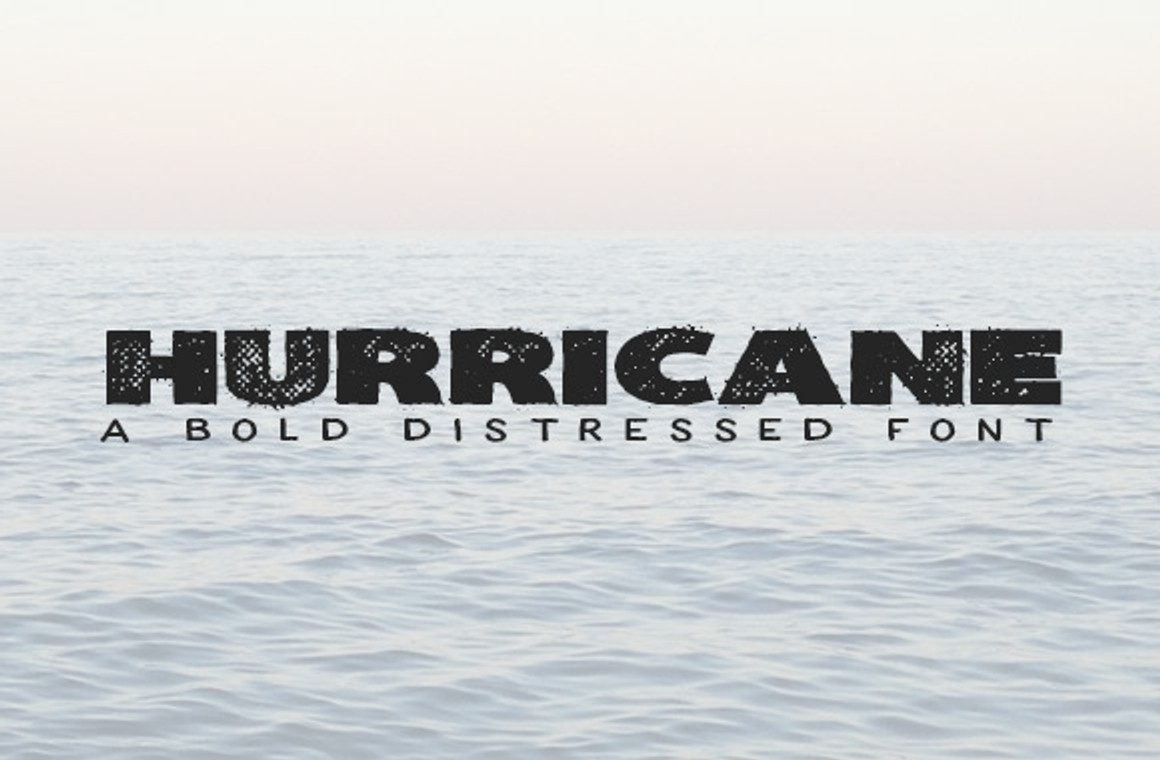 Hurricane - A Bold Distressed Font