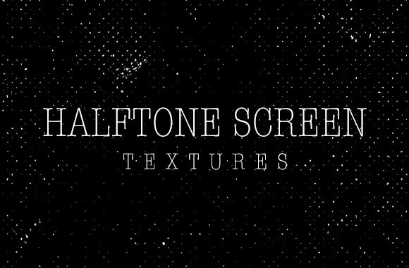 Black Halftone Screen Textures