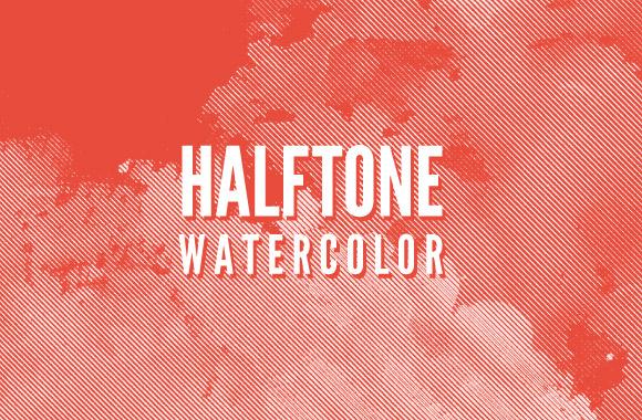 Halftone Watercolor Brush Pack