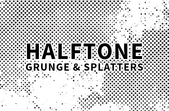 Vector Halftone Grunge and Spaltters
