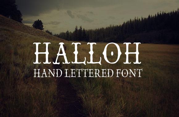 Halloh - Hand Lettered Font