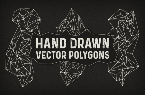 Hand Drawn Vector Polygons
