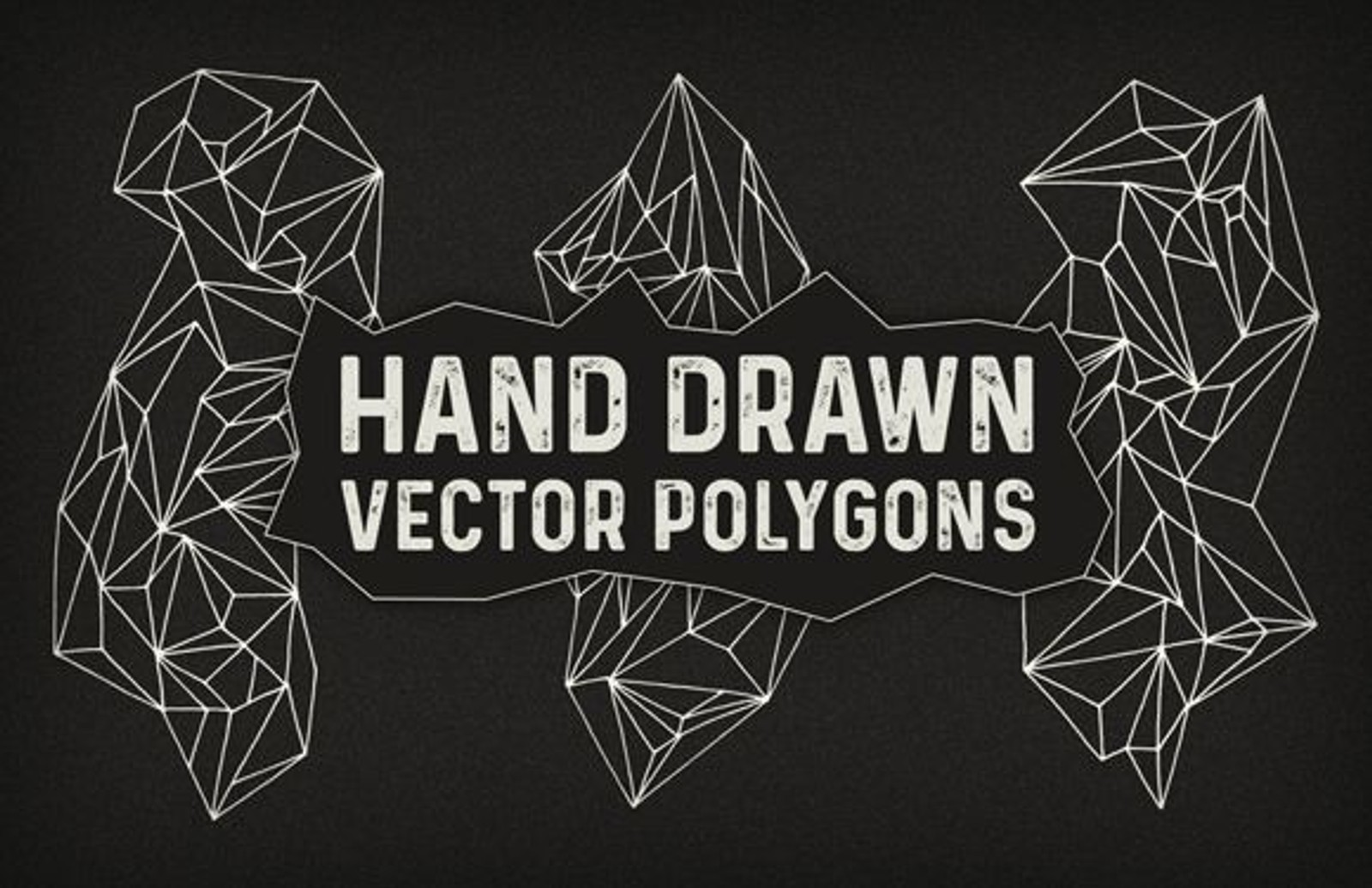 Hand Drawn Vector Polygons 1