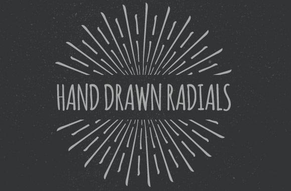 Hand Drawn Vector Radials