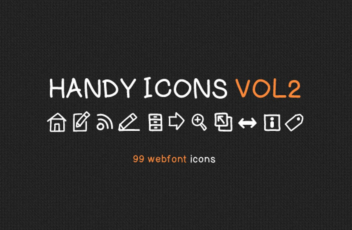 Handy Icons Vol2 - Free Web Font Kit