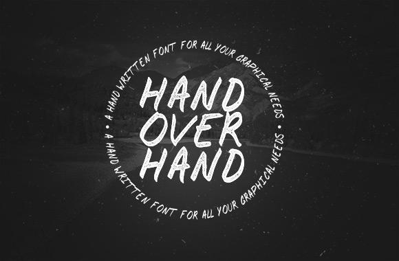 Hand Over Hand - A Handwritten Font Face