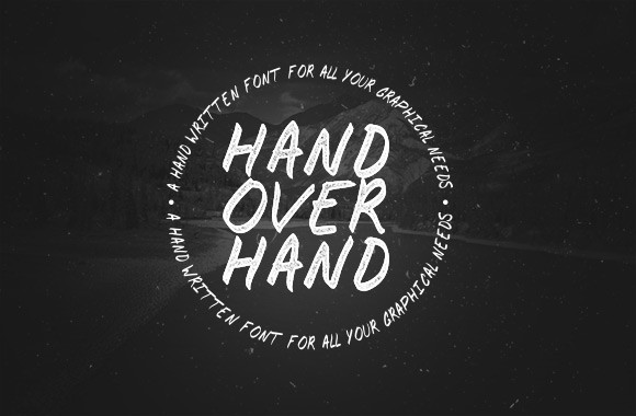 Hand Over Hand - A Handwritten Font Face