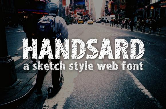 Handsard - A Sketch Style Web Font