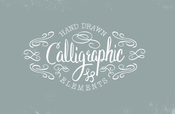 Hand Drawn Calligraphic Vector Elements