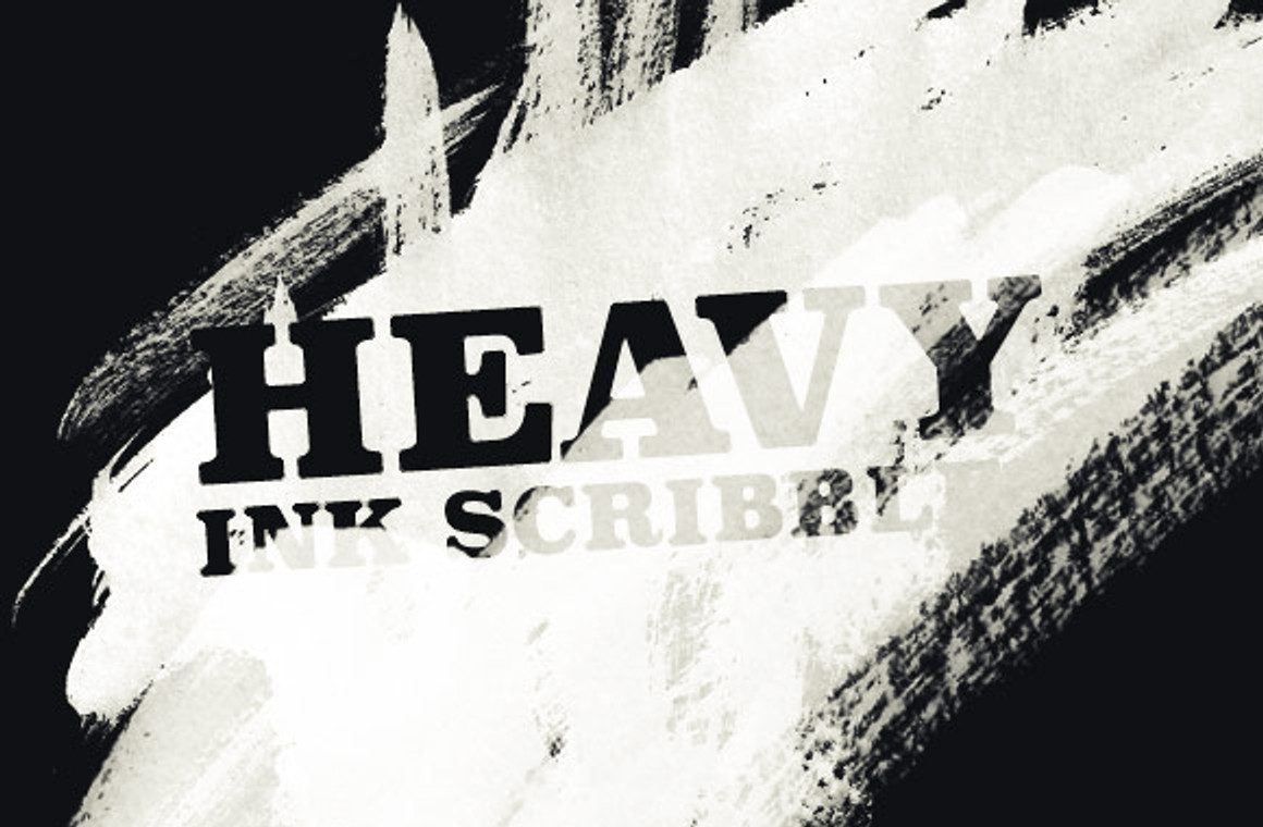 Heavy Ink Scribble Brushes
