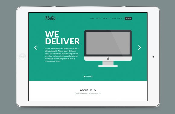 Helio - One Page PSD Web Template
