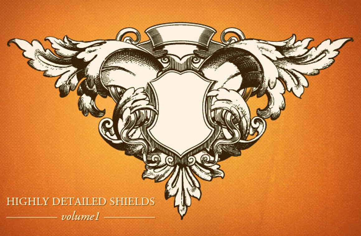 Highly detailed shields vol1