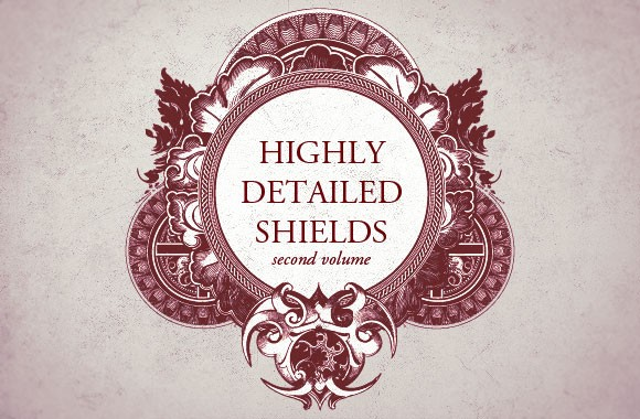 Highly detailed shields vol2