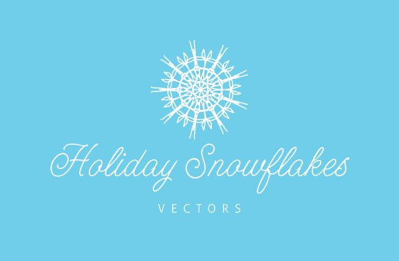 20 Vector Holiday Snowflakes