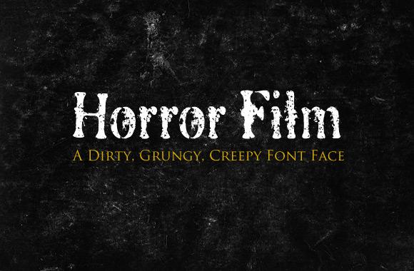 Horror Film Font