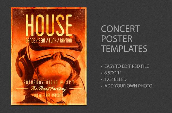 concert poster template vol 3 wegraphics