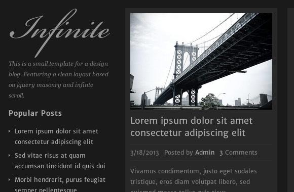 Infinite - A Design Blog Template HTML/CSS