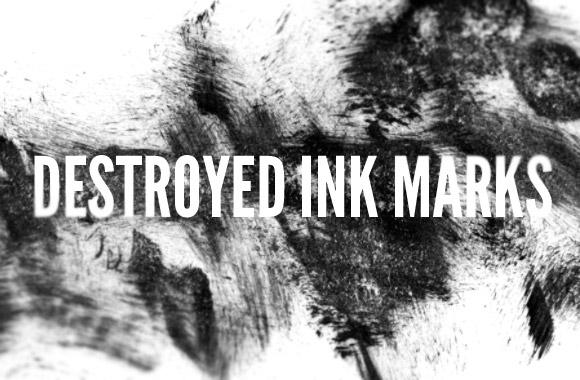 Destroyed Ink Mark Brushes
