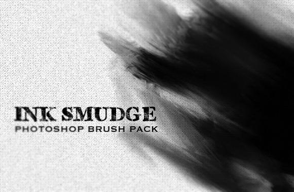 Ink Smudge Photoshop Brush Set