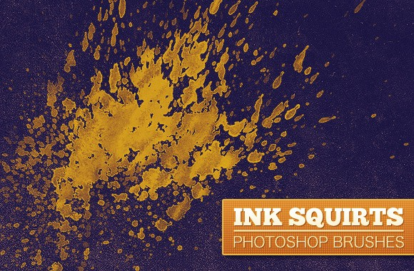 Ink Squirts PS Brushes