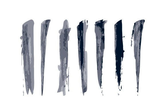 Vector Ink Strokes Brushes