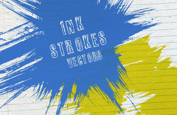 15 vector ink strokes