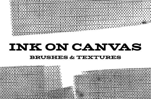 Ink on Canvas Brushes and Textures