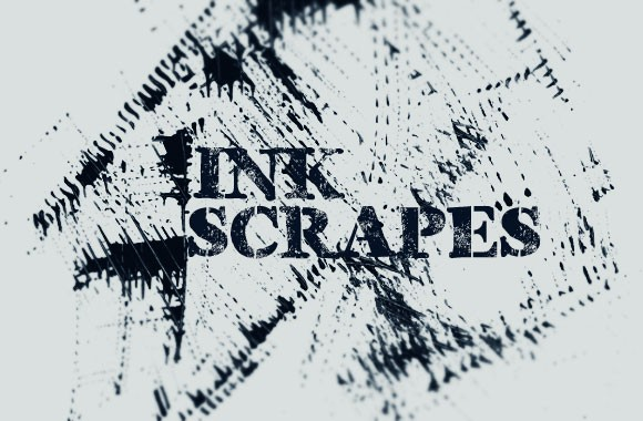Ink Scrapes Photoshop Brush Set