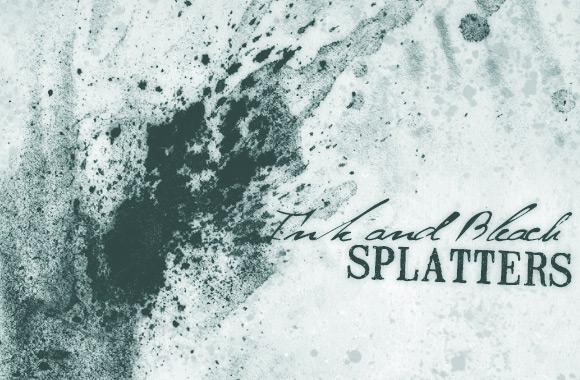 Ink and Bleach Splatter Brushes