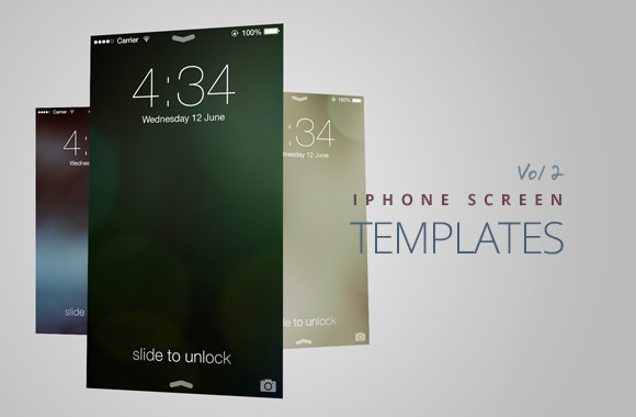 iPhone Screen Templates Vol2