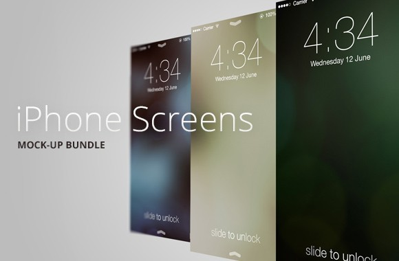 iPhone Screen Templates Vol1