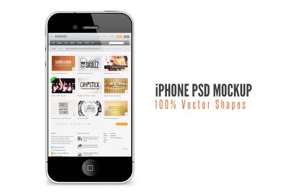 Free iPhone PSD Mockup