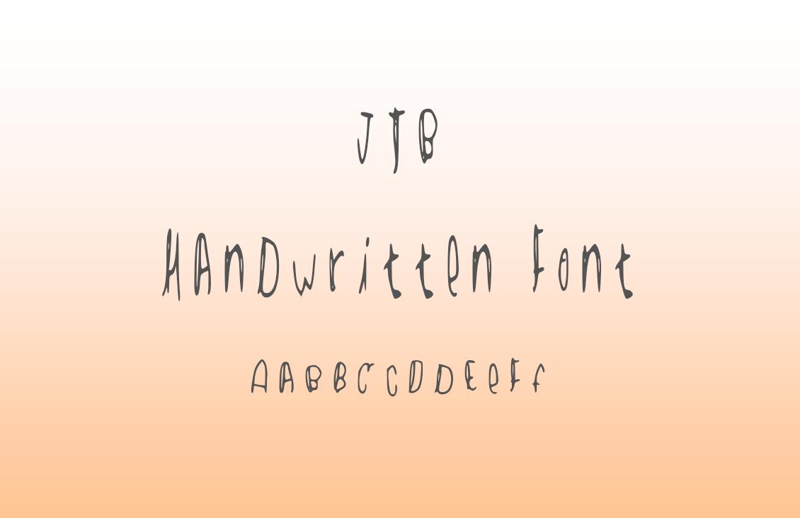 JTB Handwritten Font