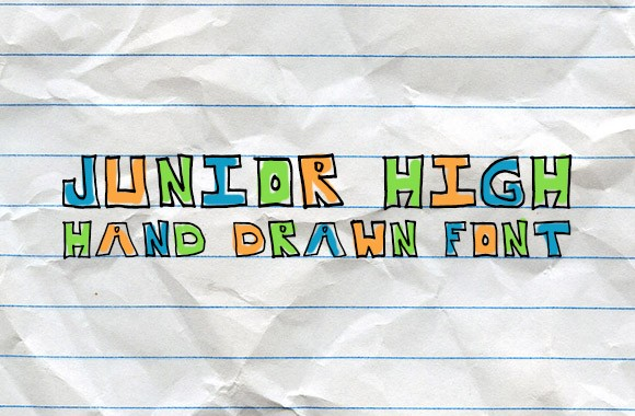 Junior High - Hand Drawn Font