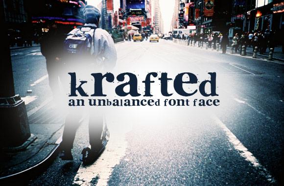 Krafted - An Unbalanced Font Face