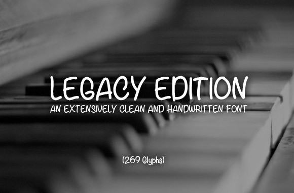 Legacy Edition - A Free Handwritten Font Face