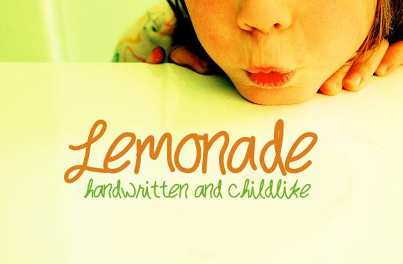 Lemonade - Handwritten Childlike Font Face
