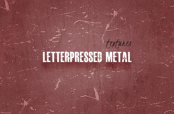 Seamless Letterpress Metal Textures