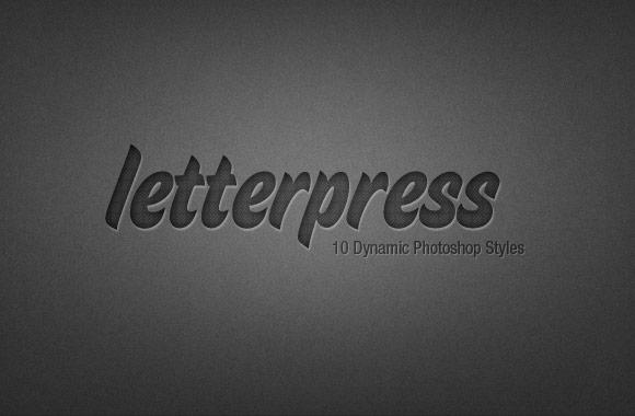 Letterpress Photoshop Style Kit