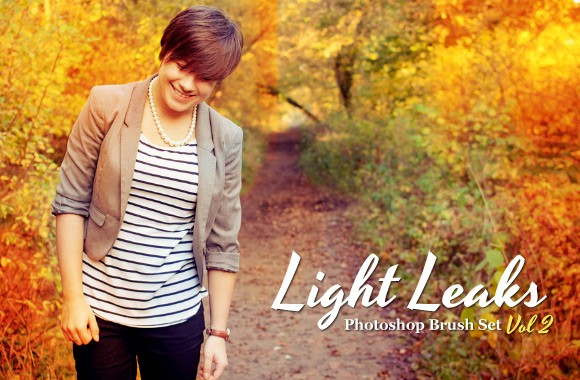 Light Leaks - Photoshop Brush Set Vol 2