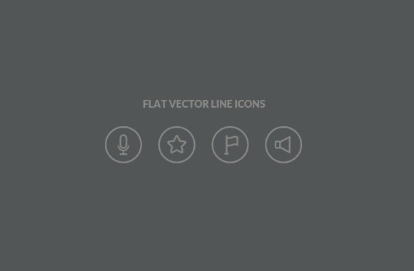 Flat Vector Line Icons