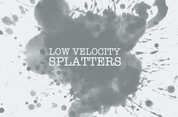 Low Velocity Splatter Brushes